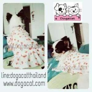 รีวิวเสื้อสุนัข เสื้อหมา เสื้อน้องหมา เสื้อผ้าหมา เสื้อแมว เสื้อผ้าสุนัข สายเดี่ยวระบาย สีแดง