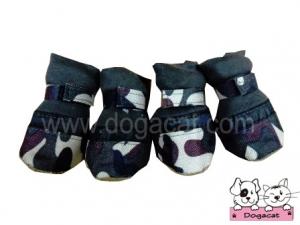 รองเท้าสุนัข รองเท้าหมา รองเท้าแมว ลายทหารV2 Size L