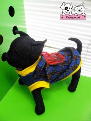 เสื้อสุนัข เสื้อหมา เสื้อน้องหมา เสื้อผ้าหมา เสื้อแมว เสื้อผ้าสุนัข เสื้อยืดสก๊อต มีเป้ สีน้ำเงิน