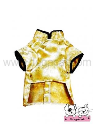 เสื้อสุนัข เสื้อหมา เสื้อน้องหมา เสื้อผ้าหมา เสื้อแมว เสื้อผ้าสุนัข ชุดจีน สีทอง