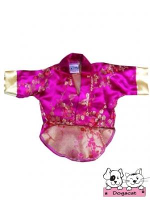 เสื้อสุนัข เสื้อหมา เสื้อผ้าหมา เสื้อแมว เสื้อผ้าสุนัข ชุดกิโมโนญี่ปุ่น สีชมพู