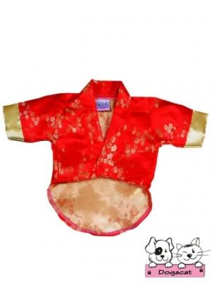 เสื้อสุนัข เสื้อหมา เสื้อผ้าหมา เสื้อแมว เสื้อผ้าสุนัข ชุดกิโมโนญี่ปุ่น สีแดง