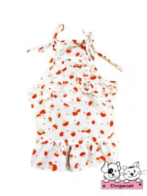 เสื้อสุนัข เสื้อหมา เสื้อน้องหมา เสื้อผ้าหมา เสื้อแมว เสื้อผ้าสุนัข สายเดี่ยวระบาย สีแดง