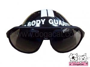 แว่นสุนัข แว่นหมา แว่นน้องหมา แว่นแมว หมวกกันน็อคสุนัข สีดำ