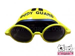 แว่นสุนัข แว่นหมา แว่นน้องหมา แว่นแมว หมวกกันน็อคสุนัข สีเหลือง