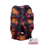 กระเป๋าหมา กระเป๋าแมว สีดำ ลายจุดแดงใหญ่