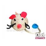 ของเล่นแมว ตุ๊กตาหนูเชือกสาน