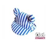 หมวกสุนัขมีหู ลายทาง สีน้ำเงิน