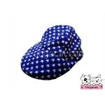 หมวกแกปสุนัข ลายดาว สีน้ำเงิน