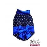 เสื้อสุนัข เสื้อแมว ชุดกิโมโนญี่ปุ่นV2 สีน้ำเงิน
