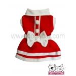 เสื้อสุนัข เสื้อแมว ชุดซานต้าครอส หญิง