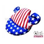 หมวกสุนัขมีหู ลายธงชาติสหรัฐ