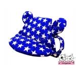 หมวกสุนัขมีหู หมวกหมามีหู หมวกน้องหมามีหู หมวกแมวมีหู ลายดาว สีน้ำเงิน