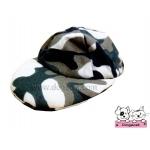 หมวกแกปสุนัข ลายทหาร สีเขียว
