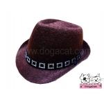 หมวกสุนัข คาวบอยV2 สีน้ำตาล