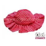 หมวกสุนัข ทรงหมวกตุ๊กตา สีแดง