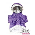 เสื้อสุนัข เสื้อหมา เสื้อน้องหมา เสื้อผ้าหมา เสื้อแมว เสื้อผ้าสุนัข กันฝน สีม่วง