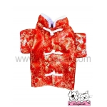 เสื้อสุนัข เสื้อแมว ชุดจีน สีแดง