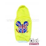 เสื้อสุนัข เสื้อแมว เสื้อยืด ลาย london สีเหลือง