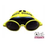 แว่นสุนัข หมวกกันน็อคสุนัข สีเหลือง
