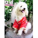 จูเนียร์ เสื้อสุนัข ชุดกิโมโนญี่ปุ่น สีแดง