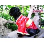 ลัคกี้ เสื้อสุนัข ชุดกิโมโนญี่ปุ่น สีแดง