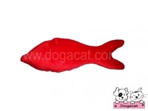 ของเล่นหมา ของเล่นสุนัข ของเล่นน้องหมา ของเล่นแมว ตุ๊กตาปลาแคทนิป สีแดง