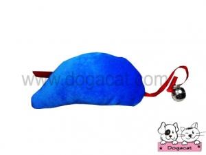 ของเล่นหมา ของเล่นสุนัข ของเล่นน้องหมา ของเล่นแมว ตุ๊กตาหนูแคทนิป สีน้ำเงิน
