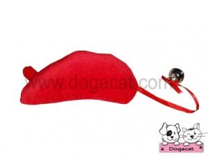 ของเล่นหมา ของเล่นสุนัข ของเล่นน้องหมา ของเล่นแมว ตุ๊กตาหนูแคทนิป สีแดง