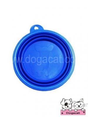 ของใช้สุนัข ของใช้หมา ของใช้แมว ชามสุนัข ชามหมา ชามแมว แบบพับได้ สีน้ำเงิน