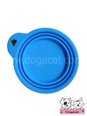 ของใช้สุนัข ของใช้หมา ของใช้แมว ชามสุนัข ชามหมา ชามแมว แบบพับได้ สีฟ้า