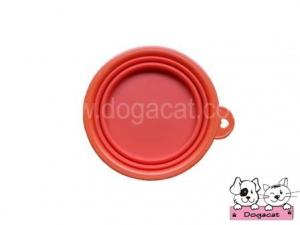 ของใช้สุนัข ของใช้หมา ของใช้แมว ชามสุนัข ชามหมา ชามแมว แบบพับได้ สีส้มเข้ม