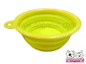 ของใช้สุนัข ของใช้หมา ของใช้แมว ชามสุนัข ชามหมา ชามแมว แบบพับได้ สีเหลือง