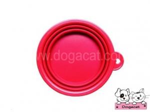 ของใช้สุนัข ของใช้หมา ของใช้แมว ชามสุนัข ชามหมา ชามแมว แบบพับได้ สีแดง