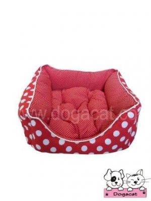 ขายที่นอนหมา ที่นอนสุนัข ที่นอนน้องหมา ที่นอนแมว ขายเบาะหมา เบาะสุนัข เบาะแมว เตียงหมา เตียงสุนัข เตียงแมว โซฟาสุนัข โซฟาหมา โซฟาน้องหมา โซฟาแมว สีแดงลายจุดขาวเล็กใหญ่
