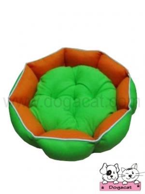 ที่นอนสุนัข ที่นอนหมา ที่นอนแมว เบาะสุนัข เบาะหมา เบาะแมว โซฟาสุนัข โซฟาหมา โซฟาแมว โดนัท สีส้มเขียว