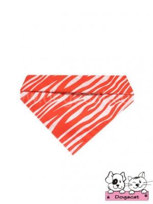 ผ้าพันคอสุนัข ผ้าพันคอแมว ผ้าพันคอหมา ผ้าพันคอน้องหมา ม้าลายสีส้ม