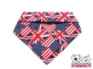 ผ้าพันคอสุนัข ผ้าพันคอแมว ผ้าพันคอหมา ผ้าพันคอน้องหมา ลายลอนดอนสหรัฐ