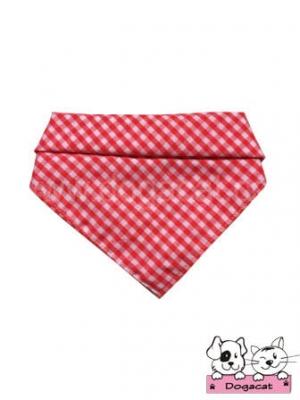 ผ้าพันคอสุนัข ผ้าพันคอแมว ผ้าพันคอหมา ผ้าพันคอน้องหมา สก๊อตเล็กสีแดง