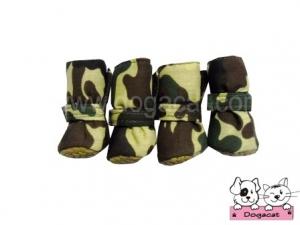รองเท้าสุนัข รองเท้าหมา รองเท้าแมว ลายทหารV2 sizeS