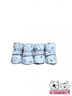 รองเท้าสุนัข รองเท้าหมา รองเท้าแมว สีฟ้าซากุระ