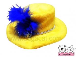 หมวกสุนัข หมวกหมา หมวกแมว ทรงปีกบาน เหลืองกบาน