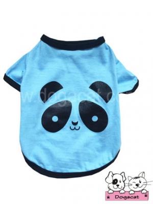 เสื้อสุนัข เสื้อหมา เสื้อผ้าสุนัข เสื้อผ้าหมา เสื้อแมว ลายหมีแพนด้า สีฟ้า