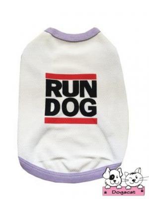 เสื้อสุนัข เสื้อหมา เสื้อน้องหมา เสื้อผ้าหมา เสื้อแมว เสื้อผ้าสุนัข เสื้อตาข่ายสีขาว Run Dog