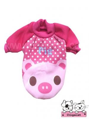 เสื้อสุนัข เสื้อหมา เสื้อผ้าสุนัข เสื้อผ้าหมา เสื้อแมว pig สีชมพู