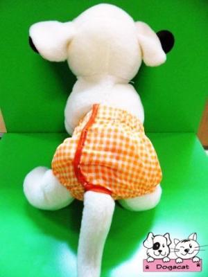 กางเกงอนามัยสุนัข กางเกงอนามัยหมา กางเกงอนามัยแมว สก๊อตส้ม