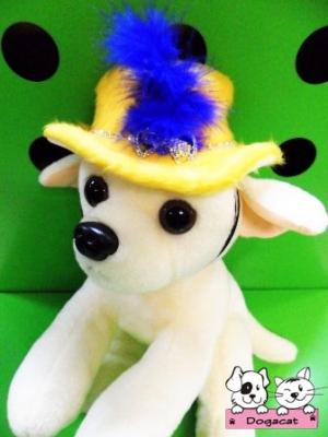 ตัวอย่าง หมวกสุนัข ทรงปีกบาน สีเหลือง