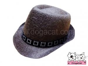 หมวกสุนัข หมวกหมา หมวกน้องหมา หมวกแมว คาวบอยV2 สีน้ำตาลอ่อน