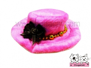 หมวกสุนัข หมวกหมา หมวกน้องหมา หมวกแมว ทรงปีกบาน สีชมพู