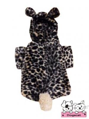 เสื้อสุนัข เสื้อหมา เสื้อน้องหมา เสื้อผ้าหมา เสื้อแมว เสื้อผ้าสุนัข ชุดลายเสือน้ำตาล มี hood